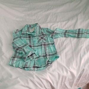 Justice plaid button down shirt